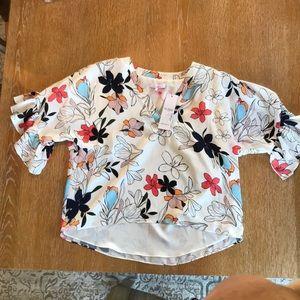 Parker floral blouse NWT
